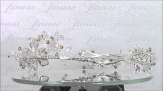 """Ободок для свадебной прически с кристаллами Swarovski """"Амалия"""""""
