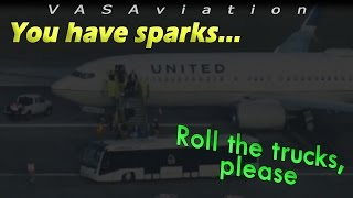 [REAL ATC] United B738 REJECTED TAKEOFF + BLOWN TIRES