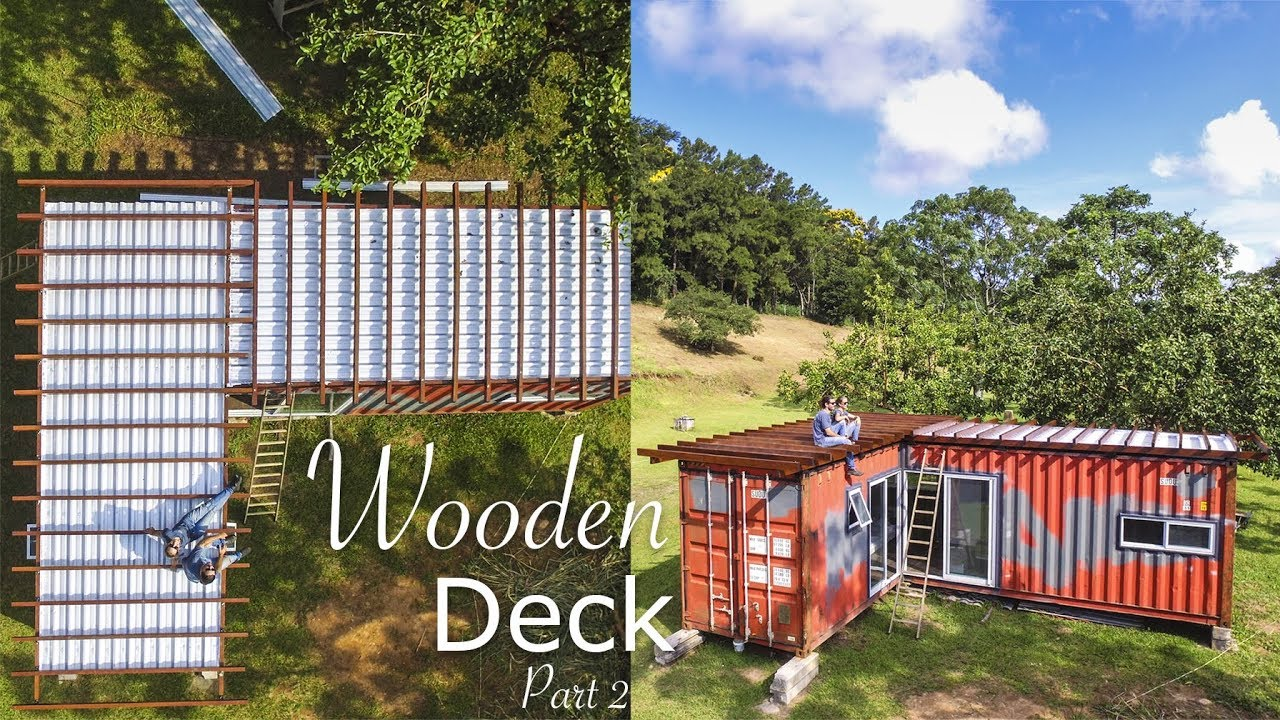 Tiny Shipping Container House Deck Living Tiny Project