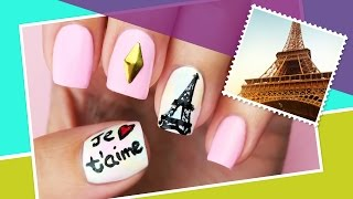Paris Inspired Nail Art ∞ The World At Your Fingertips w/ cutepolish