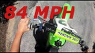 Kawasaki KX80 Speed Runs