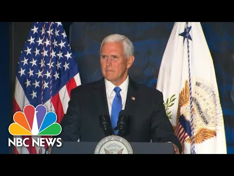 Vice President Mike Pence Calls El Paso And Dayton Mass Shootings 'Acts Of Pure Evil' | NBC News