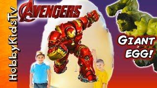 HUGE Superhero Marvel HULKBUSTER Age of Ultron Surprise Egg! HobbyG...