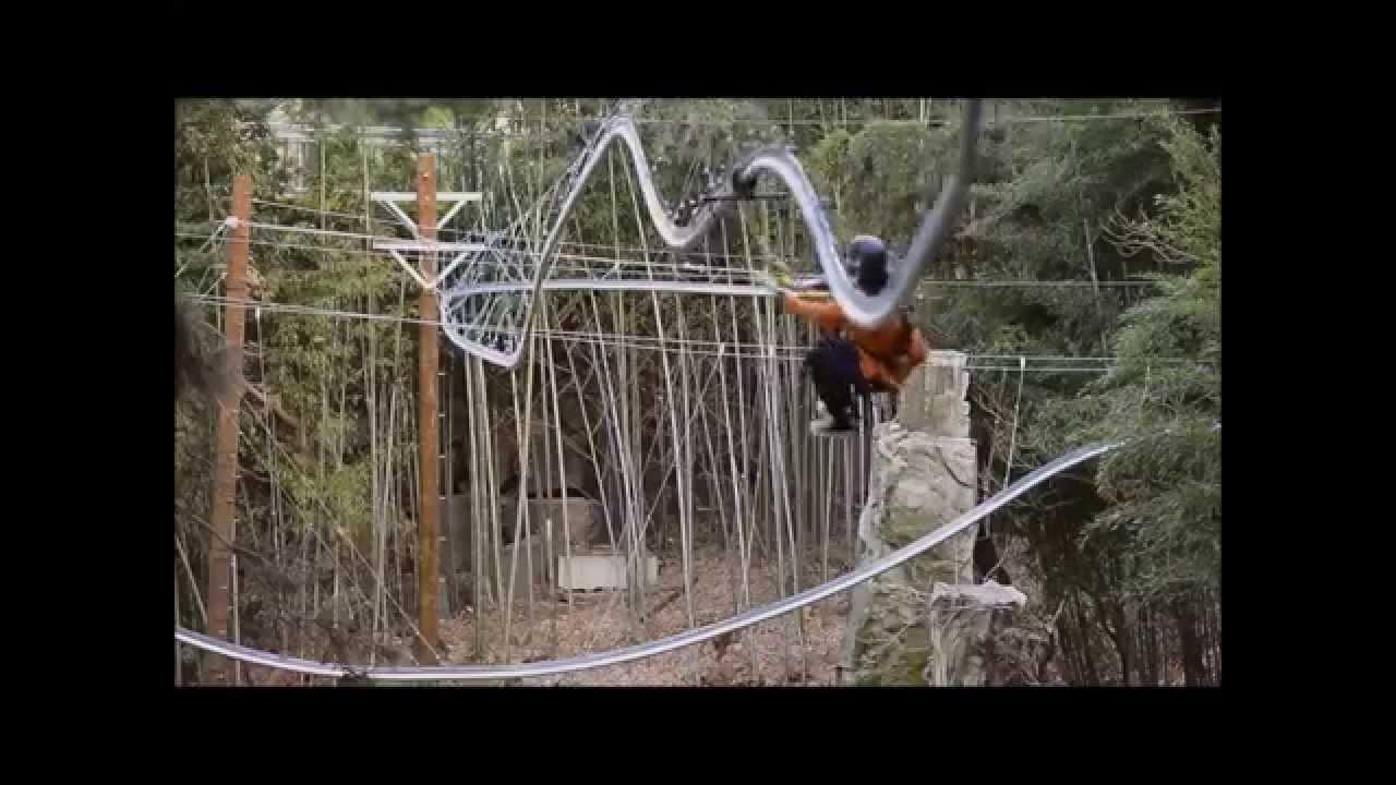 the rollercoaster zipline youtube
