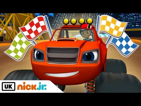 Blaze and the Monster Machines | Wildest Races | Nick Jr. UK