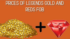 LEGEND PRICES GOLD AND REDS+DEMONITE GIVEAWAY  ROBLOX FIELD OF BATTLE