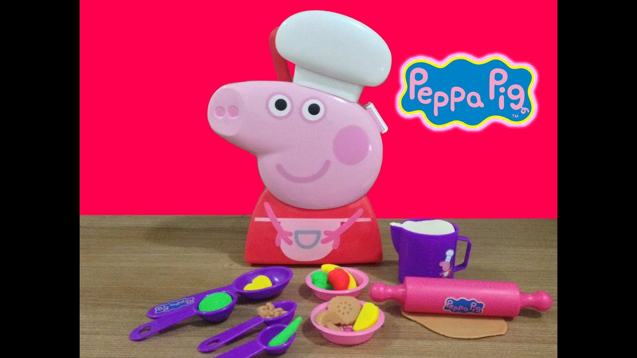 chef peppa pig cooking play doh set carry case peppa pig maleta de chef youtube. Black Bedroom Furniture Sets. Home Design Ideas