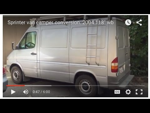 Sprinter Van Camper Conversion 2004 118 Wb