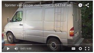 Sprinter van camper conversion. 2004 118