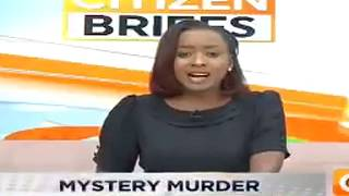 Jackie Maribe reporting on Monica Kimani's Murder  *(Jacque)