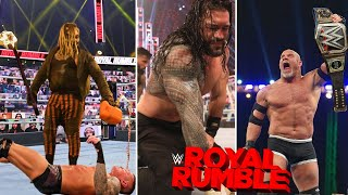 """Wwe royal rumble 2021 - roman reigns retains universal championship against kevin owens in last men standing match """"who is new diciple wwe"""", ..."""