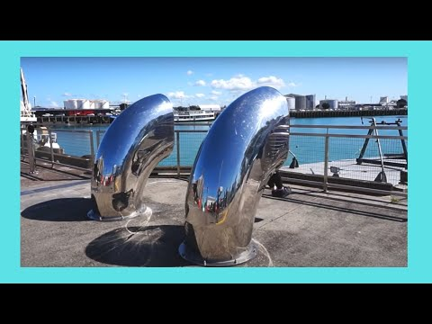 Quiet moment in AUCKLAND'S HARBOUR, NEW ZEALAND (SHORT CLIP)