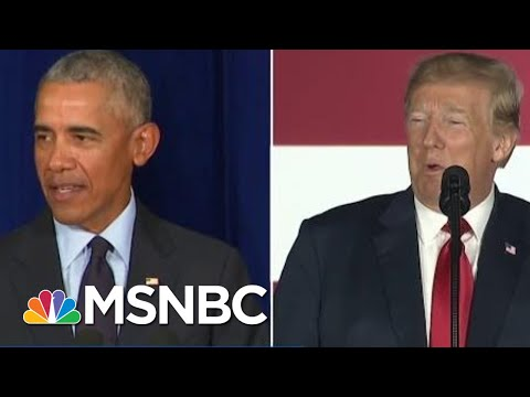President Trump Vs. Barack Obama: Who Gets Credit For The Booming Economy? | Velshi & Ruhle | MSNBC