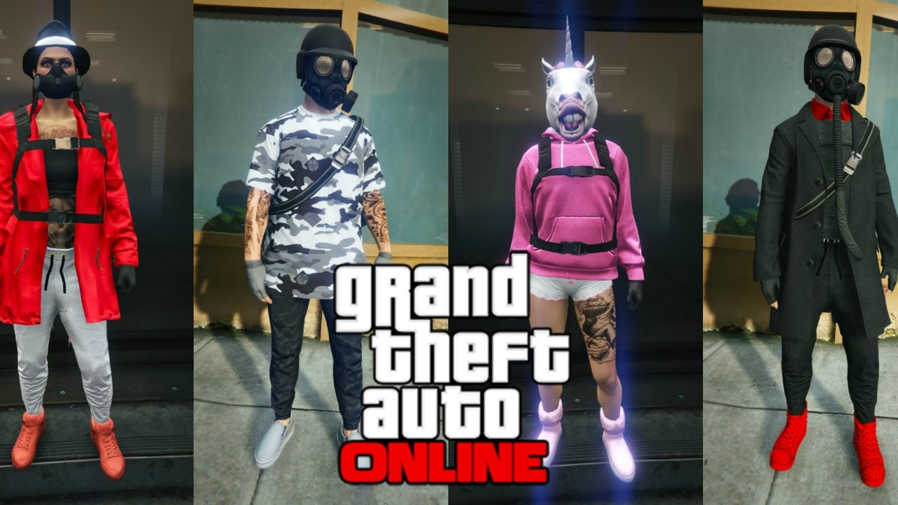 GTA 5 V Male U0026 Female Outfits Showcase [GTA Online] - YouTube