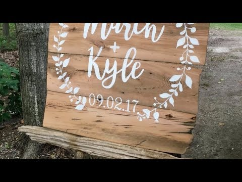 How to make a wedding sign