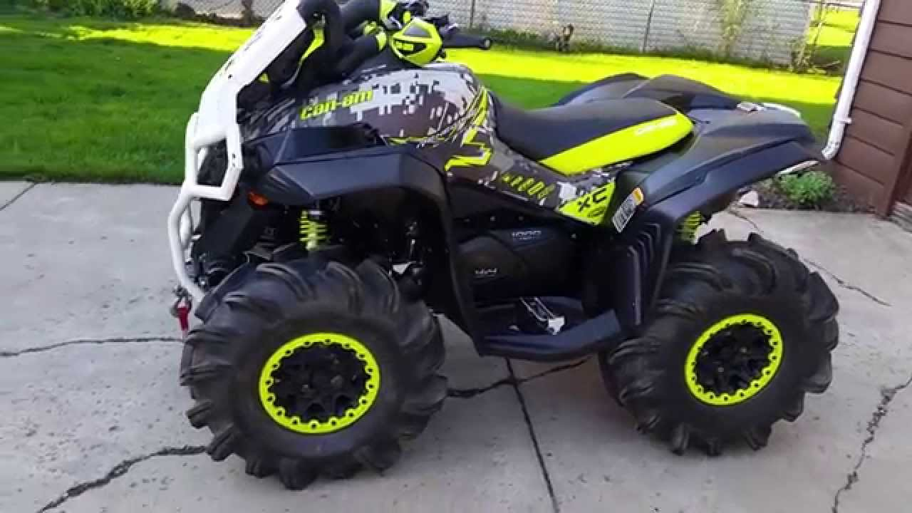 Can Am Renegade >> Can am renegade 1000 fender flares - YouTube