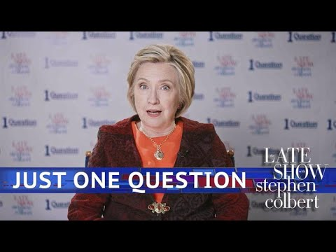 Just One Question With Hillary Clinton