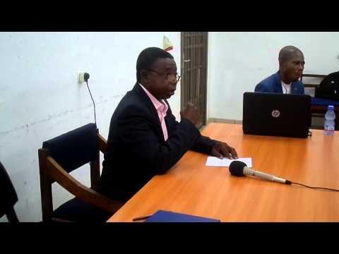 Grenier sopaliged Lors d'une Réunion de l'ICR tenue à Kinshasa