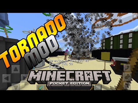 how to get tornado mod in minecraft pe