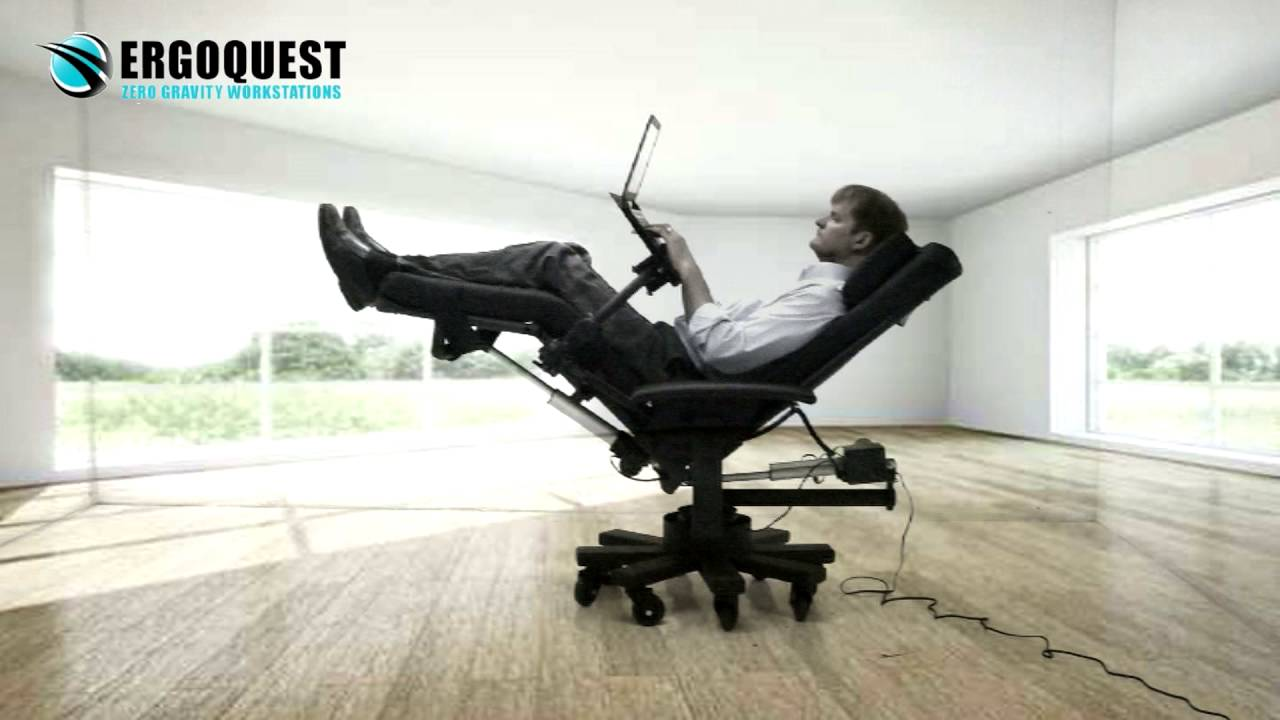 Reclining Office Chair With Laptop Tray Youtube