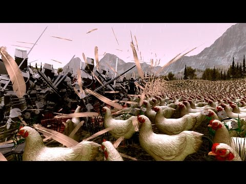 700 Рыцарей против 30 000 Куриц! - Ultimate Epic Battle Simulator
