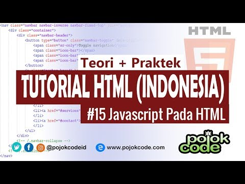 Tutorial HTML Bahasa Indonesia #15 Javascript Pada HTML