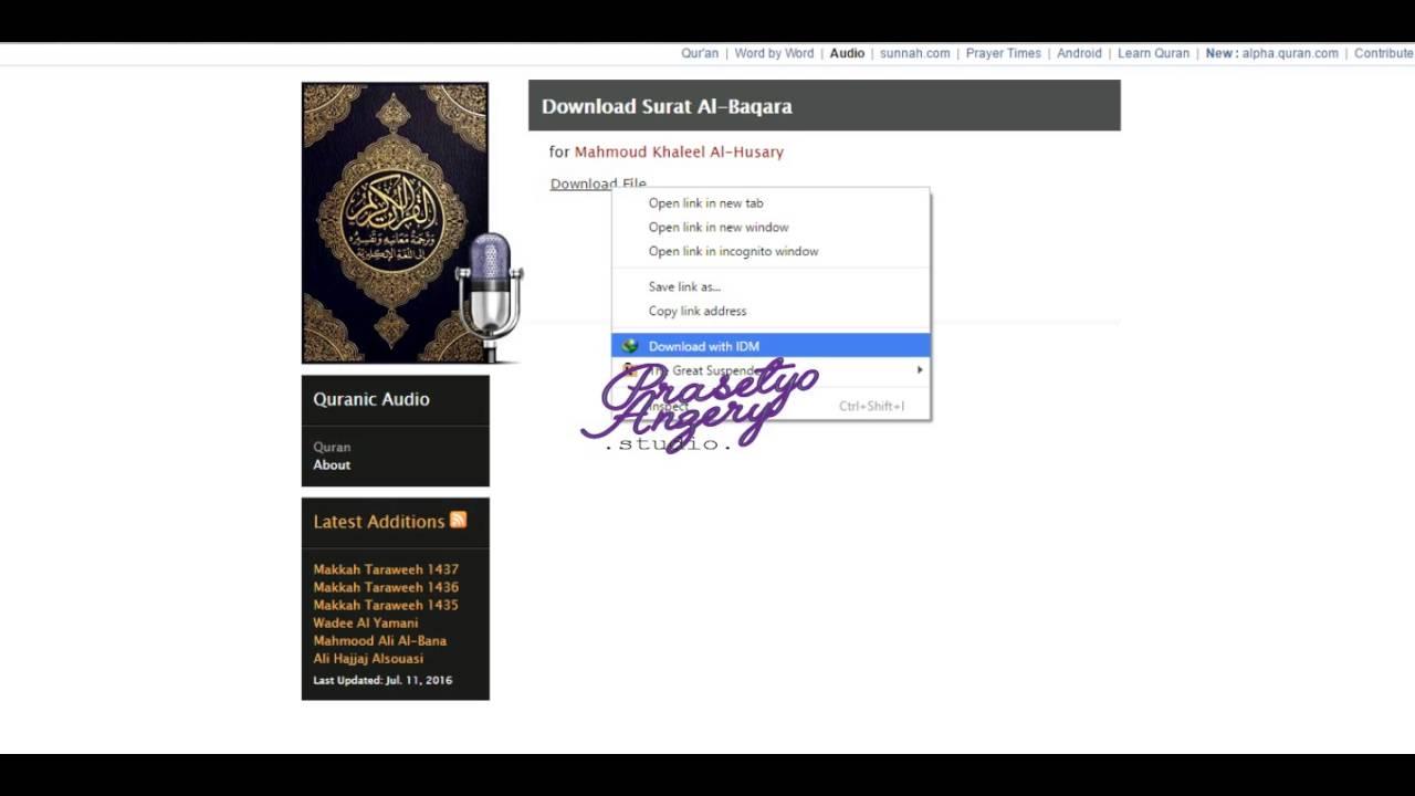 Download Ayat Kursi Mp3 Dengan Quranicaudio Com Youtube