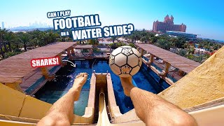 Playing FOOTBALL at the WORLD S BEST Water Park