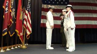 Ensign Christopher Payne, United States Navy, First Official Salute