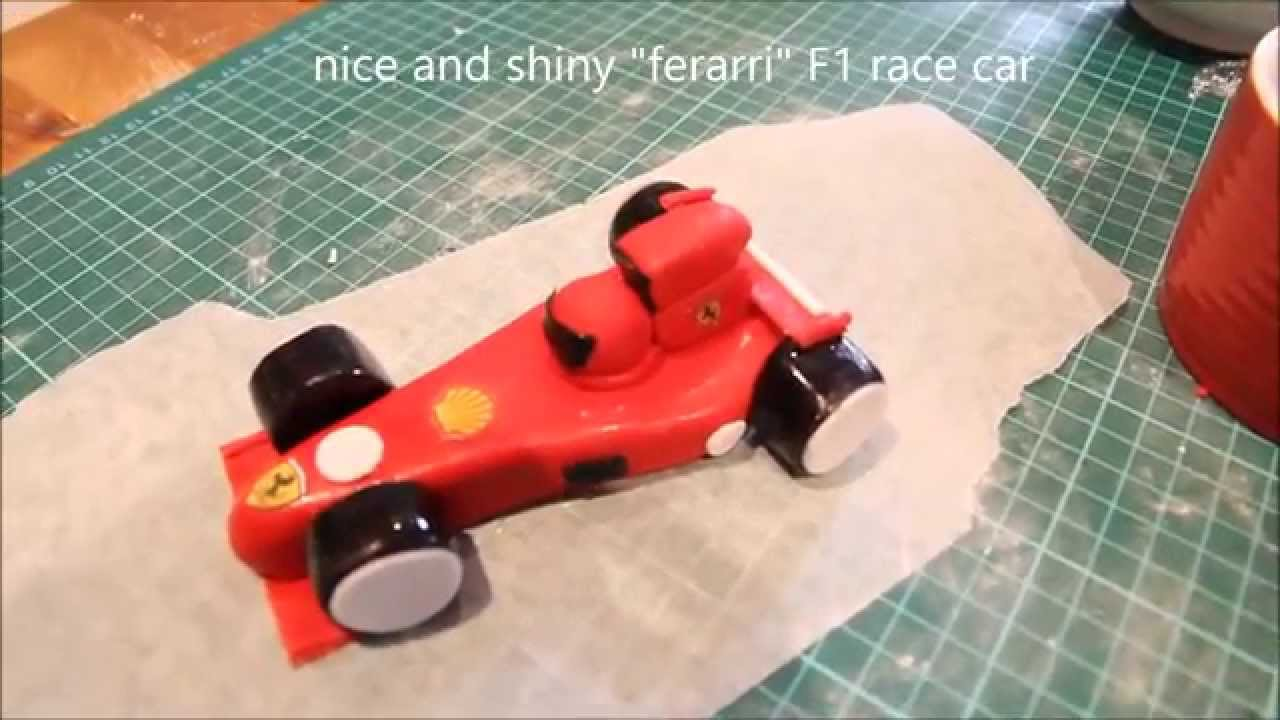 F1 car cake topper youtube for F1 car cake template