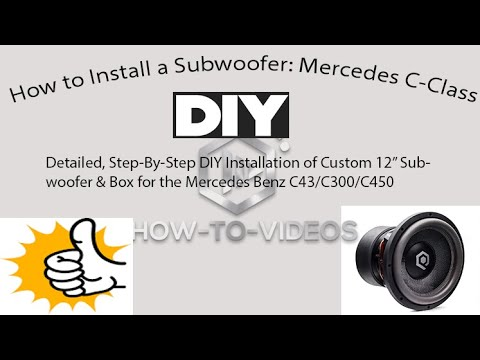 Mercedes C Class W205 Subwoofer Intsall - DIY Perfect Fit in your Trunk,  Cost effective solution!!