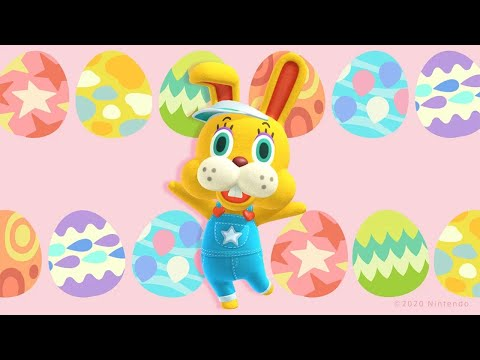 Griffin Is Hunting The Easter Bunny In Animal Crossing: New Horizons