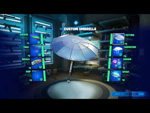 How To Create A Custom Umbrella In Fortnite: Battle Royale (Chapter 2)
