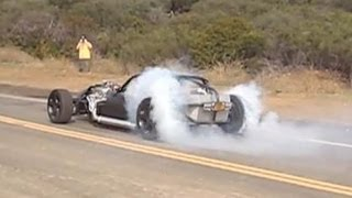 V16 HOT ROD (Twin V8) 1/8 mile burnout