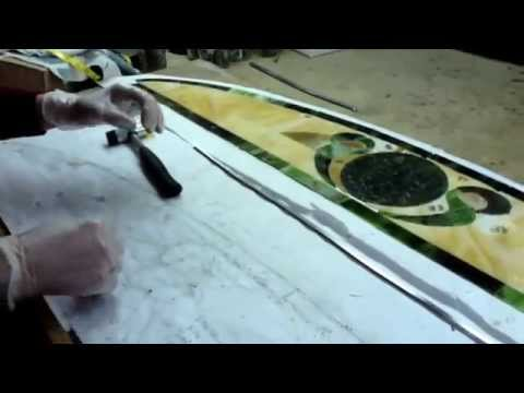 "Part 1 of 3 - Narcissus Leaded Stained Glass Work Building an ""Eyebrow"" 2-11-15"