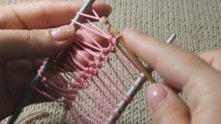 Вязание на вилке   мастер класс