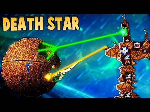 FORTS Space Battles! DEATH STAR vs REBEL Cruiser! (Forts Multiplayer Gameplay Star Wars Maps)