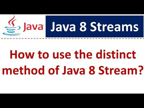 How to use the distinct method of Java 8 Stream | Streams in Java 8