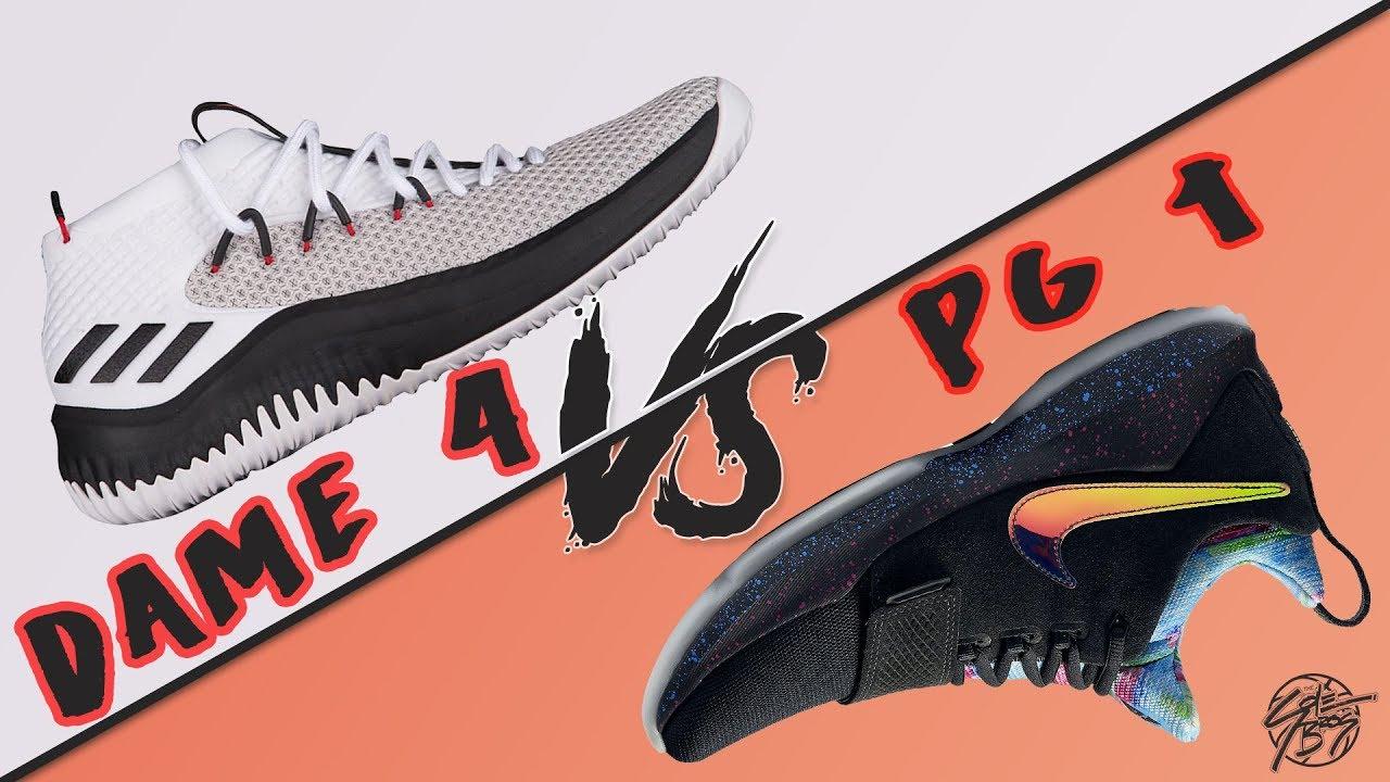 4662e5f2265 Adidas Dame 4 vs Nike PG 1! - YouTube