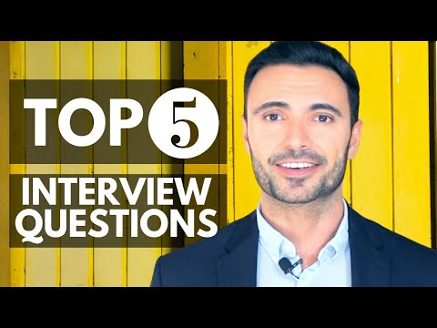 5 BEST Interview Questions And Answers (How To Pass Behavioural Job Interviews)
