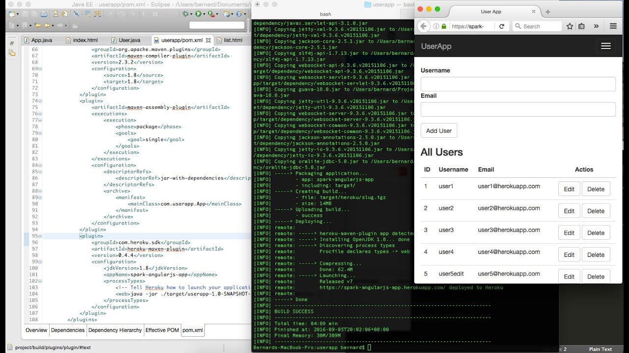 Deploying Spark app to Heroku using Maven with PostgreSQL database