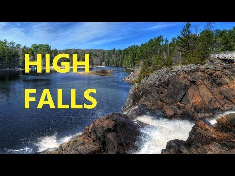 High Falls, Fall Color, Bracebridge, Muskoka, Ontario, Canada