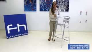 Aluminium High Bar Stool Demo - Furniture Hire Uk