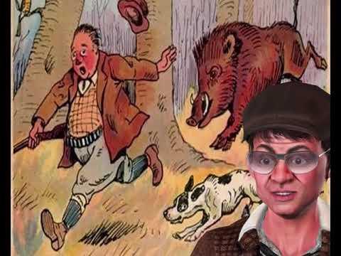 Идет охотник по лесу  Вдруг на него выскакивает