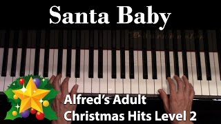 Santa Baby (Intermediate Piano Solo)