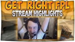 GeT_RiGhT ALL FPL HIGHLIGHTS (CS:GO Pro Stream Highlights)