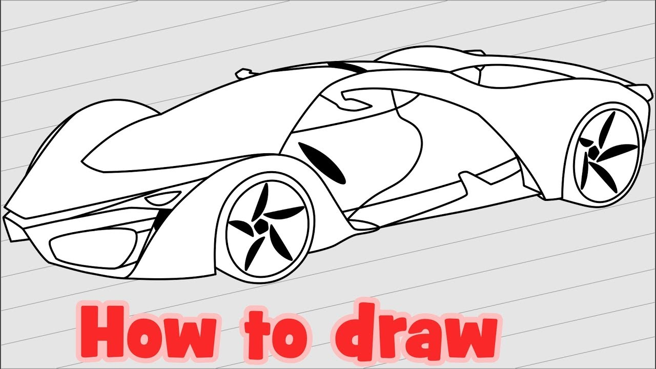 How to draw Ferrari F80 Supercar Concept
