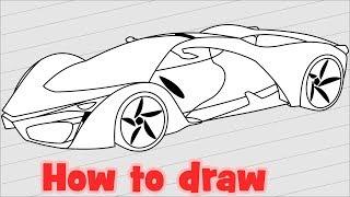 How to draw Ferrari F80 Supercar Concept