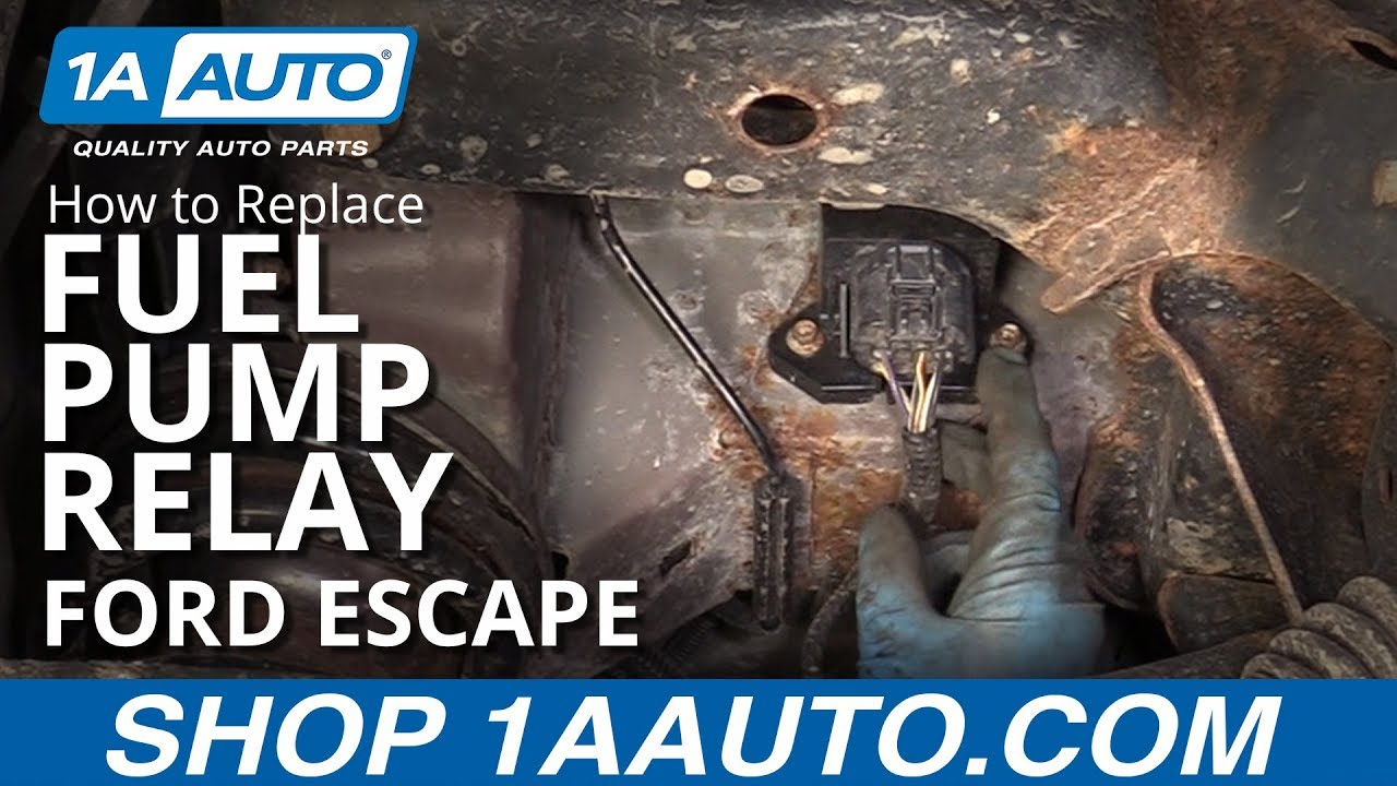 how to replace fuel pump relay 09 12 ford escape [ 1280 x 720 Pixel ]