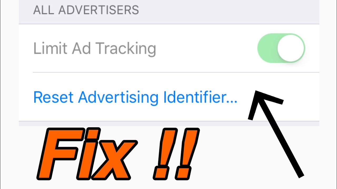 how to turn off limit ad tracking limit ad tracking fix in ios 11